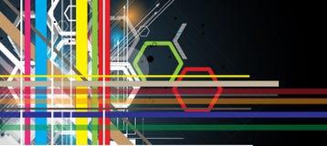 科学未来派互联网高计算机科技事务 向量例证