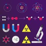 科学材料标志 免版税库存图片
