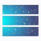 科学标准大小横幅 几何抽象介绍 医疗,科学,技术,化学背景 免版税库存图片