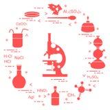 科学的化学,教育元素 免版税库存图片