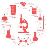 科学的化学,教育元素 免版税库存照片