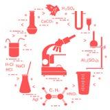 科学的化学,教育元素 图库摄影