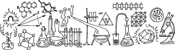 科学的实验室 库存例证