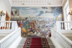 科学院,圣彼德堡的主要楼梯 图库摄影