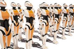 科学幻想小说机器人女孩 免版税库存图片