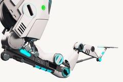 科学幻想小说机器人胳膊 免版税图库摄影