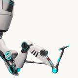 科学幻想小说机器人胳膊 免版税库存照片