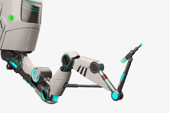 科学幻想小说机器人胳膊 免版税库存图片