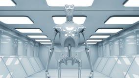科学幻想小说机器人 免版税库存照片