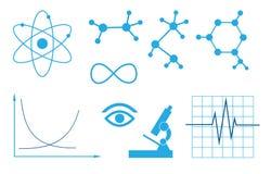 科学-集合的标志 免版税库存照片