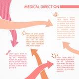科学infographic设计。 免版税库存图片