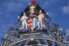 科尔切斯特城堡公园门 库存图片