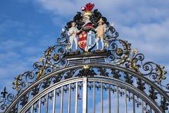 科尔切斯特城堡公园门 免版税图库摄影
