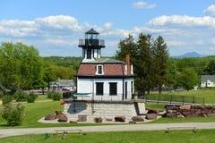 科尔切斯特礁石灯塔,佛蒙特,美国 免版税图库摄影