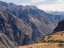 科尔卡峡谷在秘鲁,全景点 库存照片
