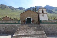 科尔卡峡谷的一个教会 免版税库存照片