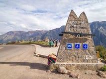 科尔卡峡谷观点,秘鲁。 免版税库存图片