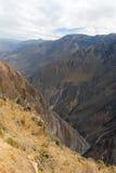 科尔卡峡谷,秘鲁全景 免版税库存图片