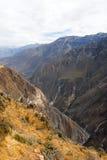 科尔卡峡谷,秘鲁全景 库存图片