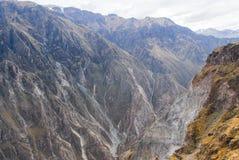 科尔卡峡谷,秘鲁全景 图库摄影