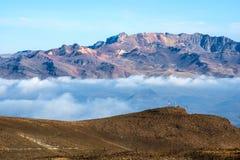 科尔卡河的峡谷在南秘鲁 免版税库存照片