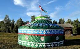 巴什科尔托斯坦共和国鞑靼人帐篷 图库摄影