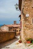 科尔托纳中世纪镇在托斯卡纳 免版税库存图片