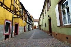 科尔马五颜六色的房子 图库摄影