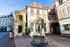 科尔马在阿尔萨斯,法国 免版税库存图片