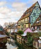 科尔马小的威尼斯-一个美丽如画的老旅游区在科尔马附近,上莱茵省,阿尔萨斯,法国的历史的中心 免版税库存图片
