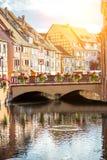 科尔马镇在法国 库存图片