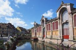 科尔马,法国:小的威尼斯区 免版税库存照片