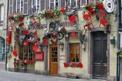 科尔马,法国-啤酒店des Tanneurs 免版税库存图片