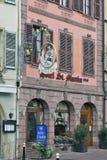 科尔马,法国-旅馆StMartin在城市的中心 库存图片