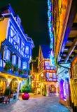 科尔马-圣诞节城市在阿尔萨斯,法国 库存照片