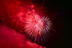 科尼岛夏天烟花-布鲁克林,纽约 免版税库存图片
