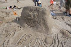 2014年科尼岛沙子雕刻的比赛11 免版税库存图片