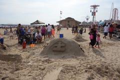 2014年科尼岛沙子雕刻的比赛14 免版税图库摄影