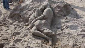 2014年科尼岛沙子雕刻的比赛16 图库摄影