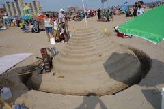 2014年科尼岛沙子雕刻的比赛30 库存照片