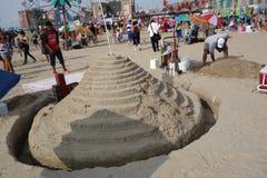 2014年科尼岛沙子雕刻的比赛31 免版税库存图片