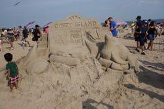 2014年科尼岛沙子雕刻的比赛34 免版税库存照片