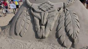 2014年科尼岛沙子雕刻的比赛38 免版税图库摄影