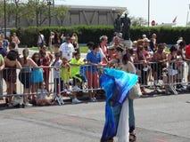 2013年科尼岛美人鱼游行107 免版税图库摄影