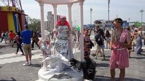 2013年科尼岛美人鱼游行144 免版税库存照片