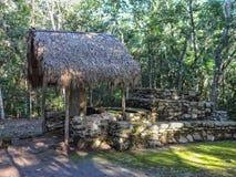 科巴,古老玛雅废墟尤卡坦半岛墨西哥 免版税库存照片