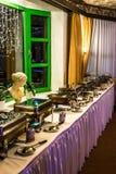 科布伦茨,德国19 11 2017 - 党早午餐大自助餐食物肉菜 图库摄影