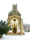 科希策,斯洛伐克- 2016年1月05日:圣迈克尔教堂在大广场 免版税库存照片