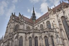 1508年科希策建造的St伊丽莎白大教堂, Slov 库存图片