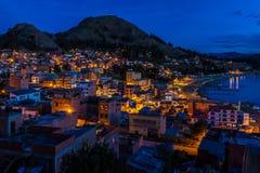 科帕卡巴纳在晚上 免版税库存照片